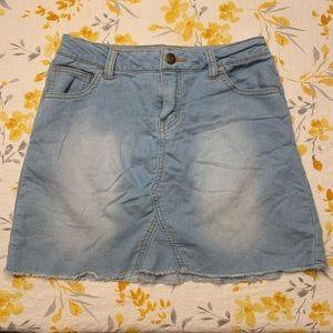 Girls Cat & Jack Denim Skirt - Size L (10/12)